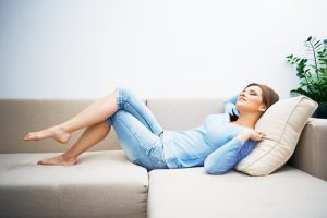 woman-relaxing-in-air-conditioned-room